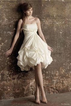 tia bridal benjamin roberts short wedding dress. Not a fan of short wedding dresses but cute for a final event! :)
