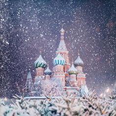 St. Basil's Cathedral in Moscow, Russia photographed by Kristina Makeeva