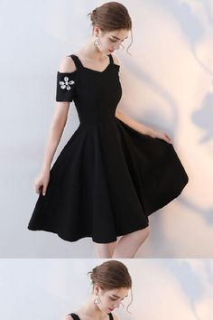 4700b6ae823bd Cute Party Dresses, Cheap Party Dresses, Party Dresses Short, Black Prom  Dress