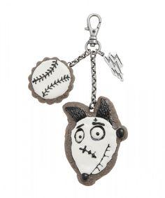 Frankenweenie Disney Store Genuine Original Authentic Key Chain Ring Tim Burton