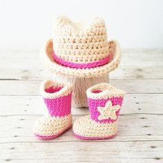 Crochet Baby Cowboy Hat Boots Set Cowgirl Country Infant Newborn Baby  Photography Photo Prop Baby Shower a154cd4452e