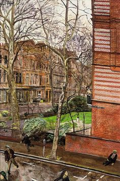 Incident in Sloane Square, Carel Weight. English (1908 - 1997)