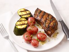 Grilled Steak and Zucchini Recipe : Food Network Kitchen : Food Network - FoodNetwork.com