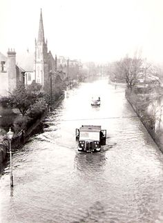 West Bridgford in the floods of March 1947 Clifton Nottingham, Nottingham City, World History, Family History, Wales, England, Anglo Saxon, The Past, Old Things