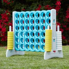 Jumbo Four-To-Score Giant Game-Indoor/Outdoor Connect - Sky Blue : Target Diy Yard Games, Diy Games, Backyard Games, Backyard Projects, Party Games, Backyard Landscaping, Backyard Ideas, Outside Games, Giant Games