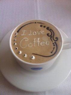 Coffee Art - I love Coffee