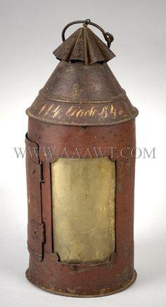 early tin lantern