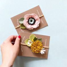 Pink Anemone and Golden Dandelion Flower Headbands coming in May!