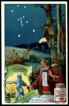 1903. Constellations (Orion) trading card issued by Liebig Extract of Beef Company. S727.