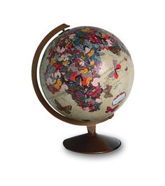 Flutter By Vintage Globe Art by wendygold on Etsy