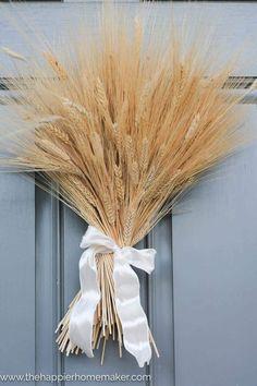 Thanksgiving Diy, Thanksgiving Decorations, Seasonal Decor, Autumn Decorations, Fall Home Decor, Diy Home Decor, Decor Crafts, Diy Crafts, Wheat Decorations