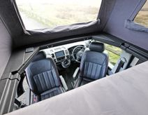 Leather seats for VW camper vans Vw Transporter Camper, Kombi Camper, Van Conversion Interior, Camper Van Conversion Diy, Bike Storage In Van, Vw Camper Conversions, Bus Girl, Day Van, Bed Photos