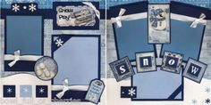 scrapbook layout cricut snow--can easily make this into a stamped image l.o.