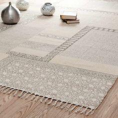 Tapis à poils courts en coton beige 160 x 230 cm MENARA