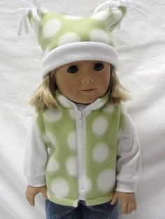 18 inch American Girl Doll Clothes / Two piece sun dress /Cami top, skirt and sandals. American Girl Doll Clothes Green and White. Sewing Doll Clothes, American Doll Clothes, Baby Doll Clothes, Sewing Dolls, Doll Clothes Patterns, Doll Patterns, Dress Patterns, Barbie, American Girl Diy