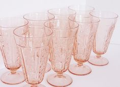 Sharon Cabbage Rose Pink depression footed by RoseArborVintage