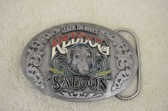 Jack Daniels Advertising Red Dog Saloon Western Vintage Belt Buckle M 190E #BergamotBrassWorks