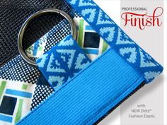 Mesh Sport Pouches with New Dritz Fashion Elastic | Sew4Home - Finished edges, make using fashion elastic as trim an easy decision.