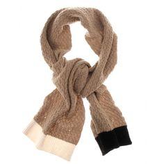 braided knit scarf