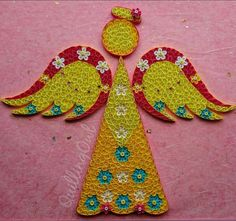Angel Love  Paper Quilling Wall art  Original Paper by QuillingOwl