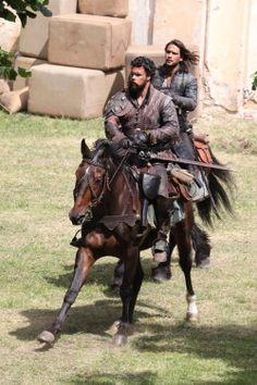 The Musketeers - Series III BtS filming (Porthos & D'Artagnan)