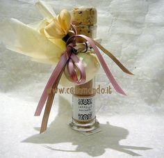 Vasetto spezie con portaconfetti e fiore di mais due nastri