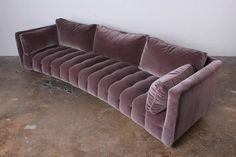 Curved Sofa by Harvey Probber in Mohair | From a unique collection of antique and modern sofas at https://www.1stdibs.com/furniture/seating/sofas/