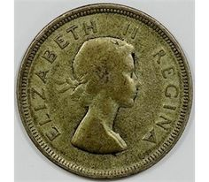 rare coins of Africa Coins Worth Money, Coin Worth, World Coins, Hindu Art, Rare Coins, Antique Shops, South Africa, Elizabeth Ii, Antiques