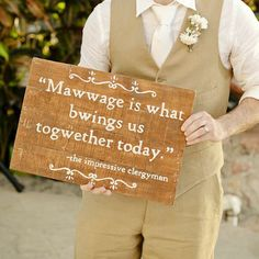 This is a must!! (How neat would it be to have wedding and love quotes all over at the reception?)