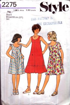 Genuine vintage 1970s STYLE 2275 Girls by TheAtticofKitsch on Etsy