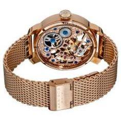 Akribos men's skeleton mechanical watch