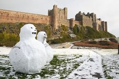 Bamburgh Castle in the Snow