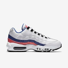 check out 59208 51e7f Nike Air Max 95 Essential - Weiß / Solar Rot / Ultramarin / Schwarz 749766-