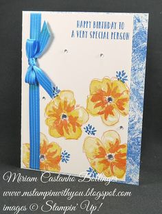 Miriam Castanho-Bollinger, #mstampinwithyou, stampin up, demonstrator, dsc, birthday card, penned & painted stamp set, oh so succulent stamp set, su