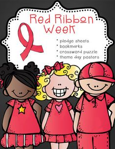 Need great activities for Red Ribbon Week?  This pack includes 16 theme posters, student pledge cards and bookmarks.  Students find a character to resemble them.