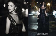 Maria Carlaboscono for Alberta Ferretti F/W 13 Campaign by Peter Lindbergh