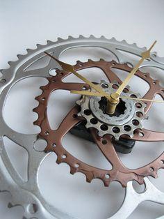Bicycle Clocks: large sprocket clocks by ButtonsandBicyclesUK