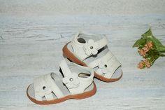 Girls soft leather sandals - white  www.littlemrandmissclothing.com.au