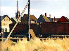 Freight cars, Edward Hopper