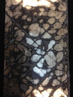 this is a sample of watergilded cracked gesso by innovative gilder and eglomise artist Gareth Evans. Traditionally is used on furniture, but can also be used in wall panels or as works of art in their own right.http://www.linkedin.com/pub/gareth-evans/38/b10/a47