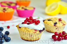 Citrónovo-ovocné muffiny z ovsených vločiek - FitRecepty
