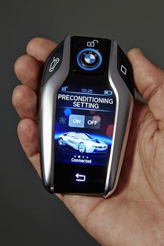 de05310c24 The new BMW Key fob with display. This has to be the most advanced car