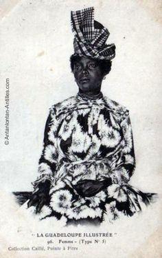 Guadeloupéenne en robe traditionnelle