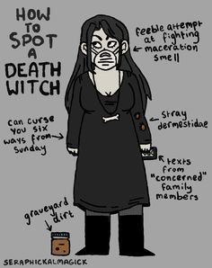 How to spot a Death Witch! The second part of the series focuses on a witch…