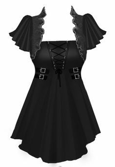 BlueBerryHillFashions: Gothic Corset Laced Top - Plus Size Fashions