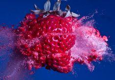 Exploding fruit photography. Fruit ninja is a reality!