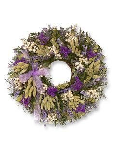 22 Inch Napa Valley Lavender Country Wreath  BALSAM HILL