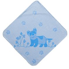 Breganwood Baby & Toddler Hooded Towel, The Prairie Collection Blue Ferret