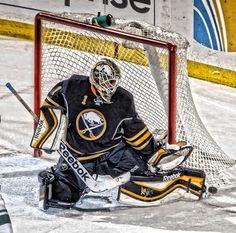 . Goalie Pads, Hockey Goalie, Ice Hockey, Buffalo Sabres, Golf Bags, Nhl, Reebok, Sports, Hs Sports