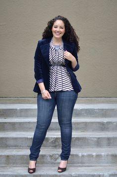 Jeans skinny + veludo.